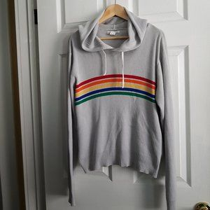 Rainbow Knitted Hoody Sweater